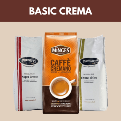 Basic Crema szemes kávéválogatás