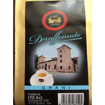 L'Antico decaffeinato koffeinmentes szemes kávé 500g