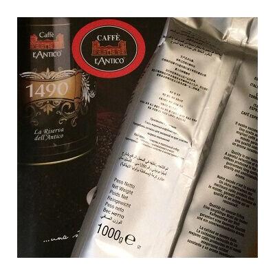 L'Antico koffeinmentes szemes kávé 1000g